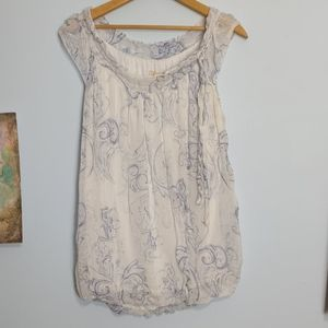 Guisy Floral Silk Sleeveless Blouse Size M